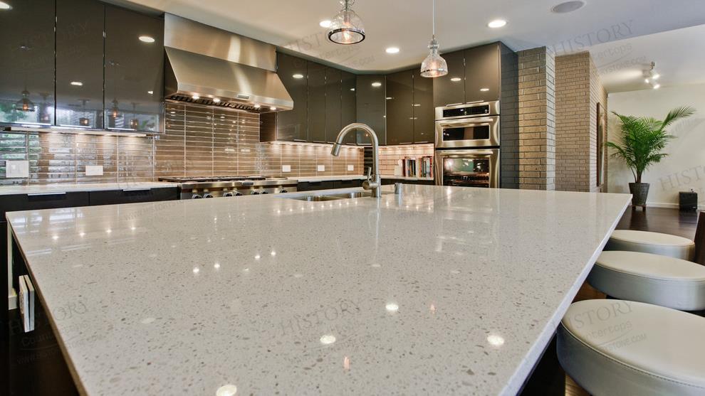 Quartz countertop completed by GranitePOL