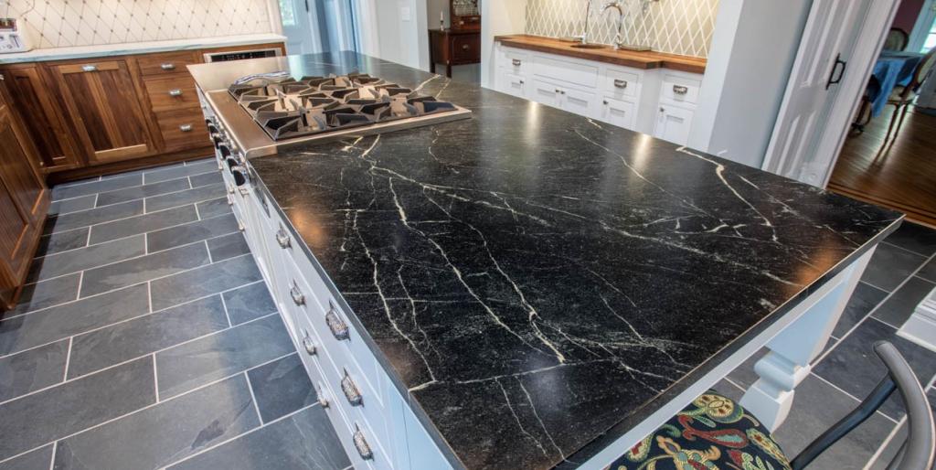 black quartz countertops by newstone